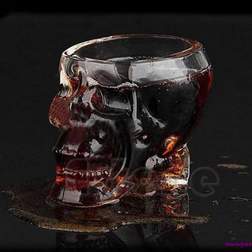 Free shipping Hot Sale Skull Head Crystal Glass Vodka Whiskey Shot Cup Drinking Ware Home Bar 75ml(China (Mainland))