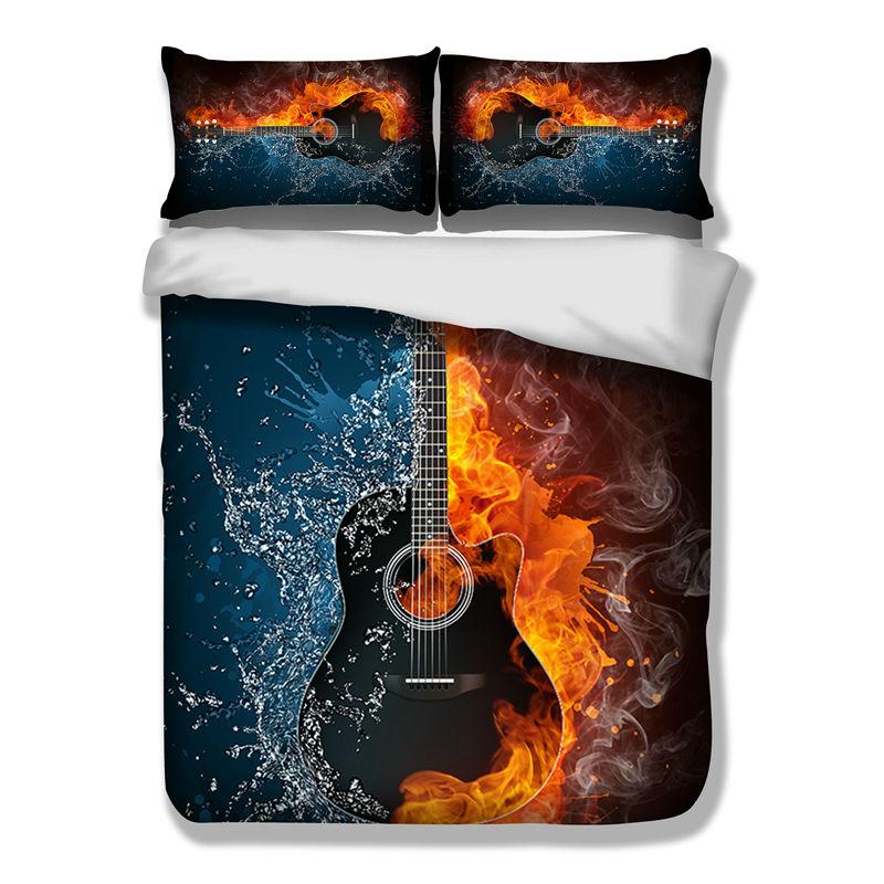 guitare housse de couette achetez des lots petit prix guitare housse de couette en provenance. Black Bedroom Furniture Sets. Home Design Ideas