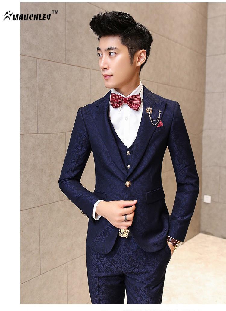 HTB1lfFmQFXXXXayXXXXq6xXFXXXH - MAUCHLEY Prom Mens Suit With Pants Burgundy Floral Jacquard Wedding Suits for Men Slim Fit 3 Pieces / Set (Jacket+Vest+Pants)