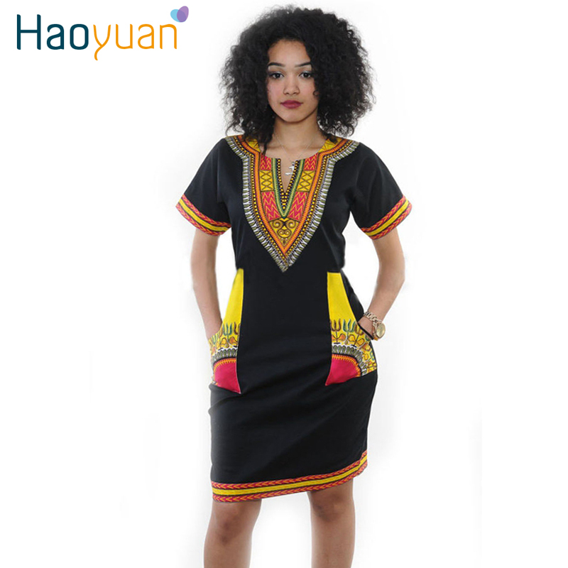 2016 New Summer Vintage Dashiki Dress Robe Sexy Casual African Print Short Sleeve Ladies Indian Dresses Plus Size Women Clothing(China (Mainland))