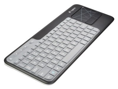 Thin silicone soft keyboard cover skin for Logitech Wireless Touch Keyboard K400 and K400r with cosmos strap (Clear)(China (Mainland))