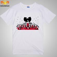 Buy WU TANG CLAN Rap hip-hop band Cartoon image Music theme Fashionable men women's short sleeve T-shirt for $11.99 in AliExpress store