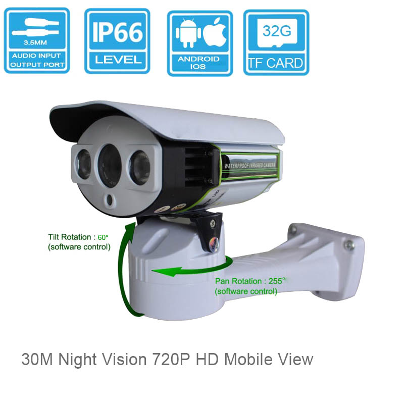 Pan Tilt Security IP Camera Waterproof 3MP HD Lens 720P Outdoor Surveillance SSTC System PTZ Mini Cam outdoor with Audio(China (Mainland))