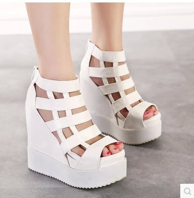 2015 Size 34-38 Womens fashion inside the hollow out higher fish cake wedge sandals C158<br><br>Aliexpress