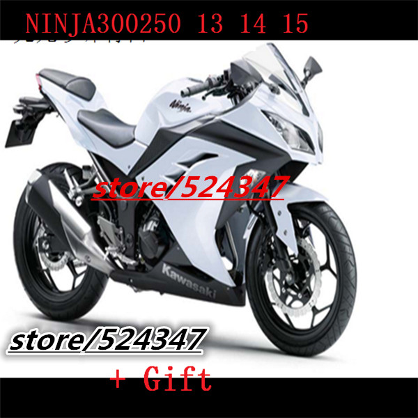 Motorcycle Accessories & Parts para KAWASAKI NINJA 300 300R negro 13 15 ZX300R EX300 EX 300 Gloss Silver EX300R 2013 2015(China (Mainland))