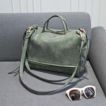2015 New Women's Shoulder Bag Large Space Nubuck Leather Vintage Messenger Bag Motorcycle Handbags Women's Bag High Quality Gift