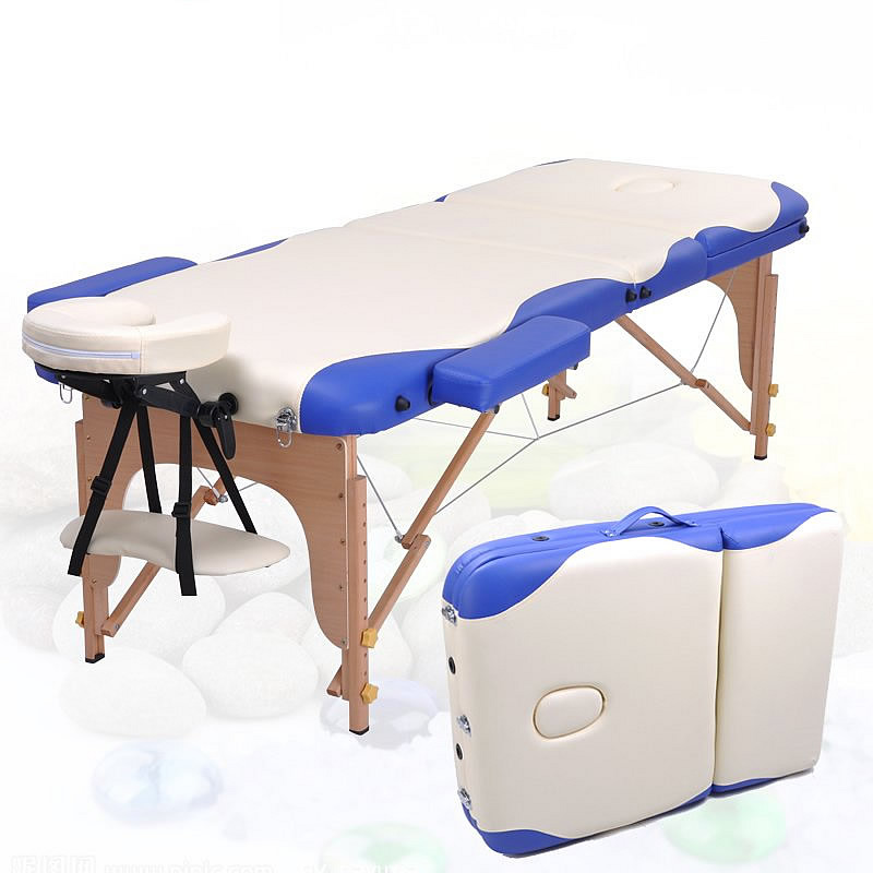 Free Shipping Folding Massage Bed Physiotherapy Massage Table With Bag Bed Wood Beauty Care Bed(China (Mainland))