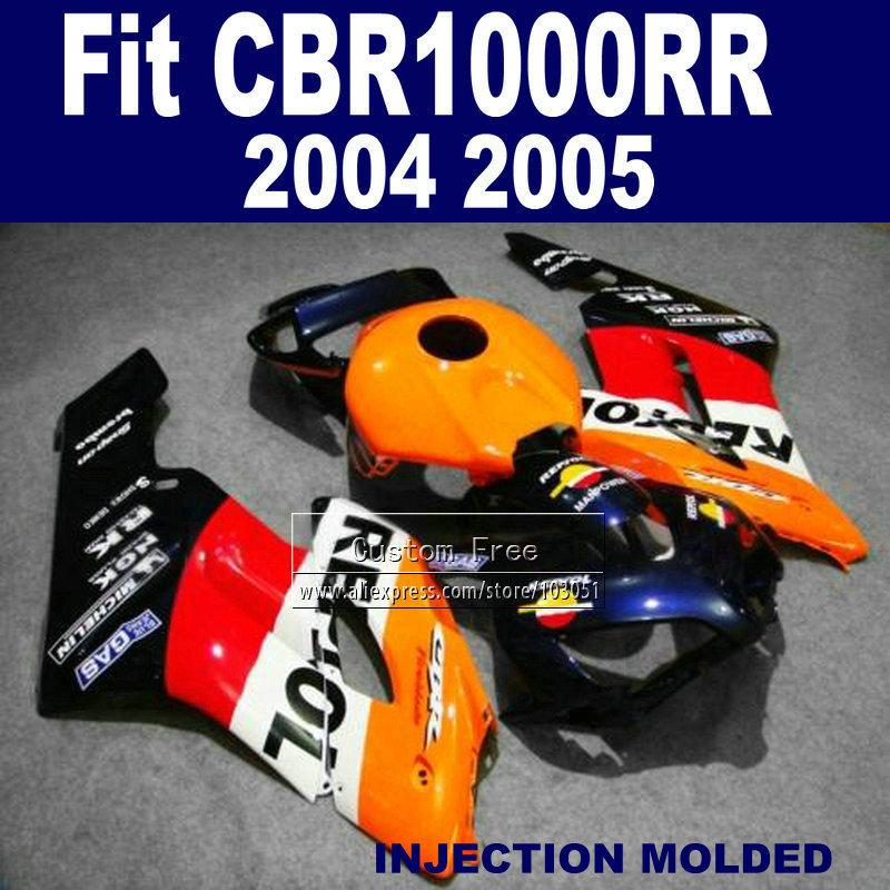 Injection  fairings kit for Honda repsol CBR1000RR 2004 2005 CBR 1000 RR 04 05 CBR1000 RR aftermarket fairing bodykits<br><br>Aliexpress