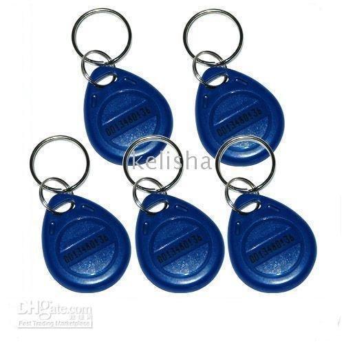 Key Ring Blue 100Pcs 125Khz RFID Proximity ID Token Tag