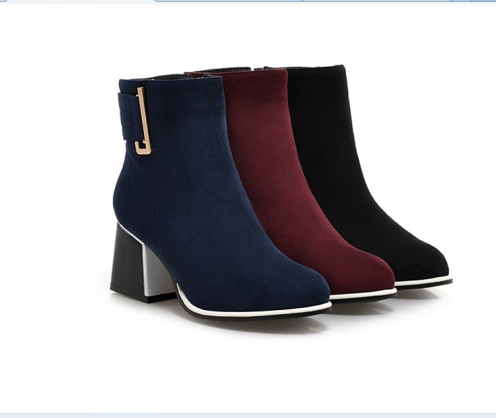 fashion autumn metal boots winter shoes ankle