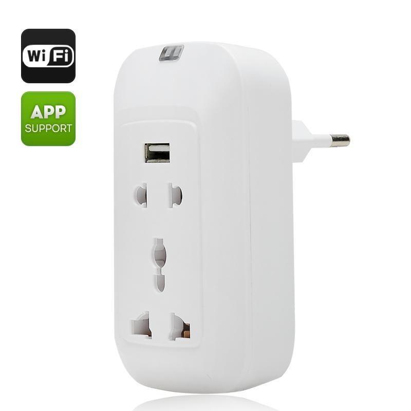 50pcs/lot Wholesale Smart Wireless Wifi Remote Switch Control Power Socket US-Plug Home Office Use_DHL(China (Mainland))