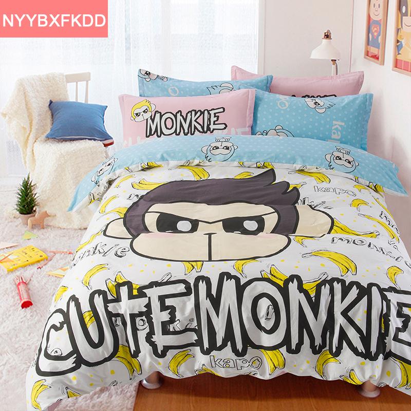 singe fille literie promotion achetez des singe fille literie promotionnels sur. Black Bedroom Furniture Sets. Home Design Ideas