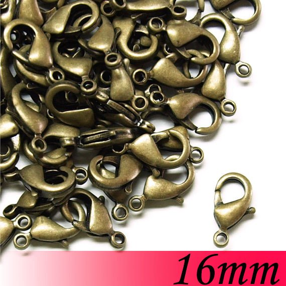 16mm 1000piece Vintage Antique Bronze Jewelry Bead Making Findings - Claw Lobster Clasps<br><br>Aliexpress