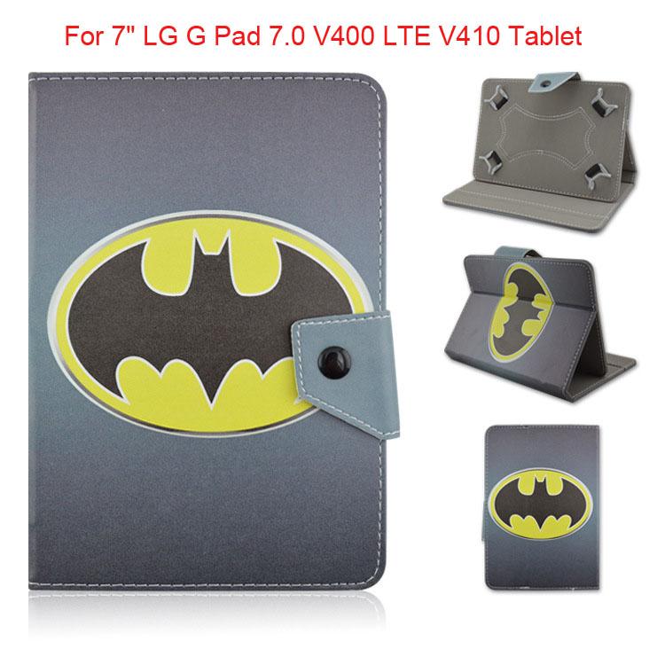 "Kids Avengers Super Heros Superman Iron Man Hulk Batman spiderman Leather Case Cover For 7"" LG G Pad 7.0 V400 LTE V410 Tablet(China (Mainland))"