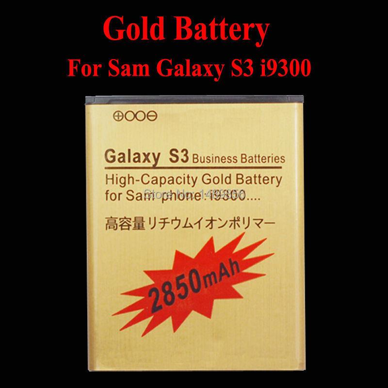 1Pcs Lot High Capacity 3 8V 2850mAh Golden Li ion Battery For Samsung Galaxy SIII S3