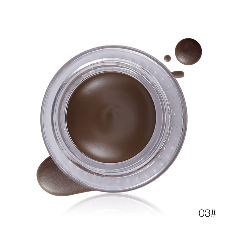 Brand New Sobrancelha Creme à prova d' água Mascara Gel Make Up Creme Eye Brow Potenciador de Longa-duração Natural 4 Cores de Maquiagem com Escova
