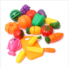 Brand new16pcs/Set Plastic Kitchen Pretend Play Funny Food Fruit Vegetable Cutting Toys For Children Kids Educational Toys(China (Mainland))