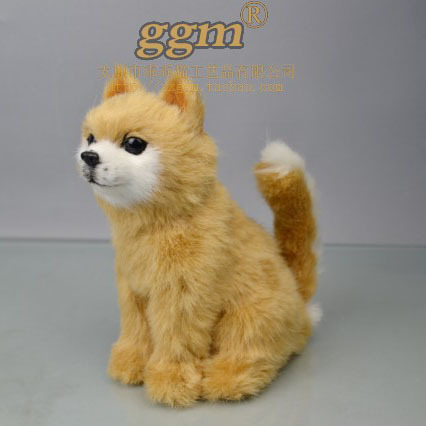free shipping artifical toy 17x16x9cm pomeranian dog toy simulation animal polytene & fur kids toy home furnishing gift d8695(China (Mainland))