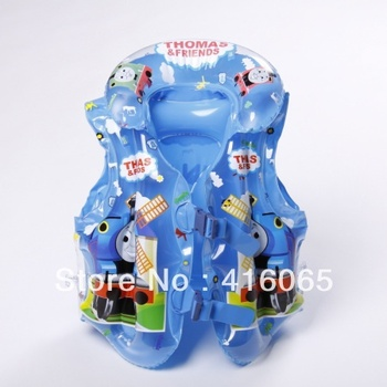 Free Shipping 2013 Thomas swimming vest Children Inflatable Swimming Vest 45*35CM Baby Life Vest  buckle belt adjustment Life