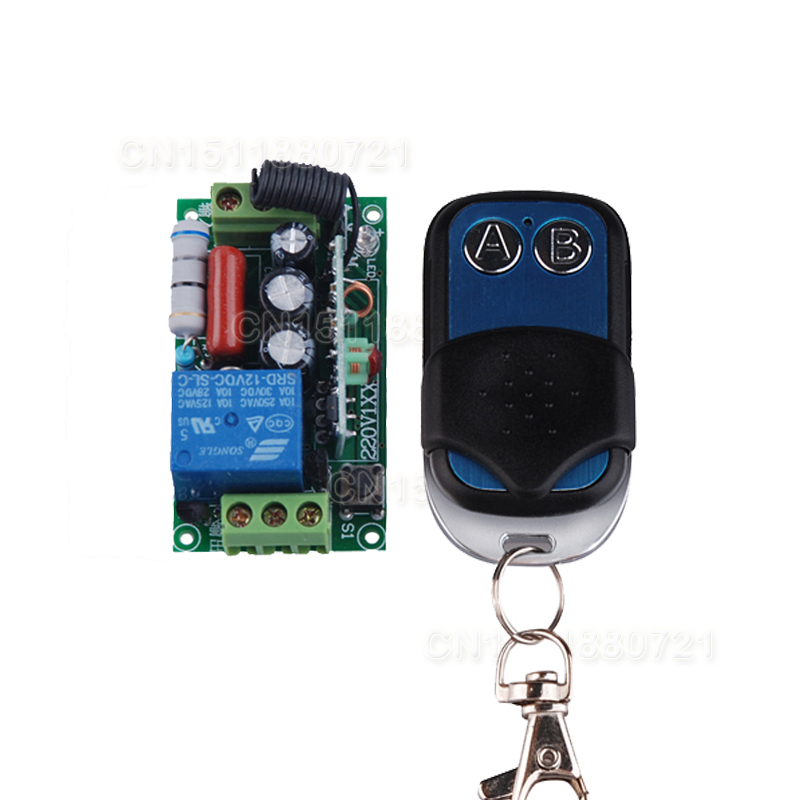 Receiver&amp;Transmitter  220V 1CH 10A RF Wireless Remote Switch For Light Lamp Momenrary Toggle Latched Adjustable 10pcs/lot<br><br>Aliexpress