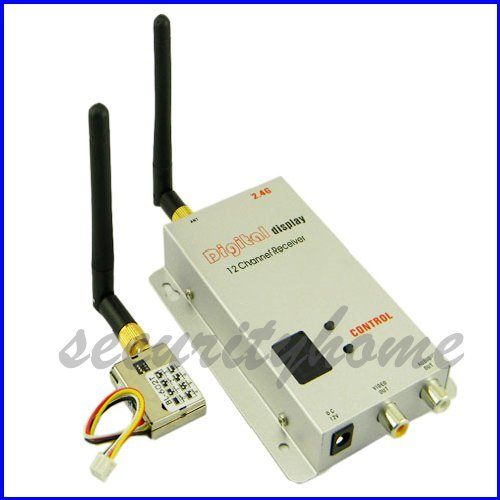 8 CH 2.4G 200mw Wireless Video Transmitter Receiver for CCTV Cam(China (Mainland))