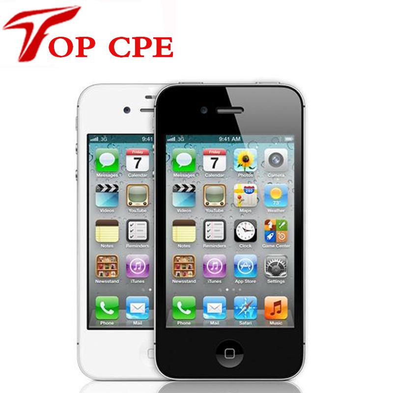 Iphone 4 100% Factory Original Unlocked Apple Iphone 4 Cell phone 3.5 Screen 8GB/16GB/32GB GPS WIFI Dual Camera Free Shipping(China (Mainland))