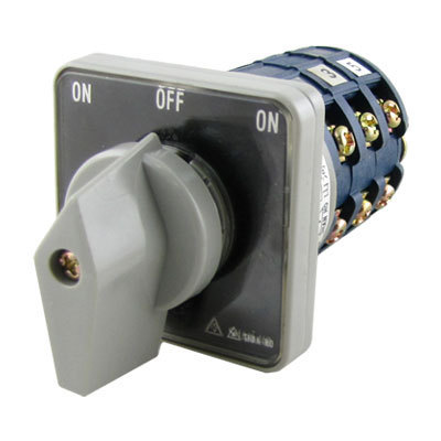 ON-OFF-ON 3 Pole Rotary Knob Universal Changeover Switch(China (Mainland))