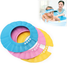 5Pcs/Lot Adjustable Shower Cap Protect Shampoo For Baby Health Bathing  Waterproof   Child Wash Hair Shield Hat Bathroom Produt(China (Mainland))