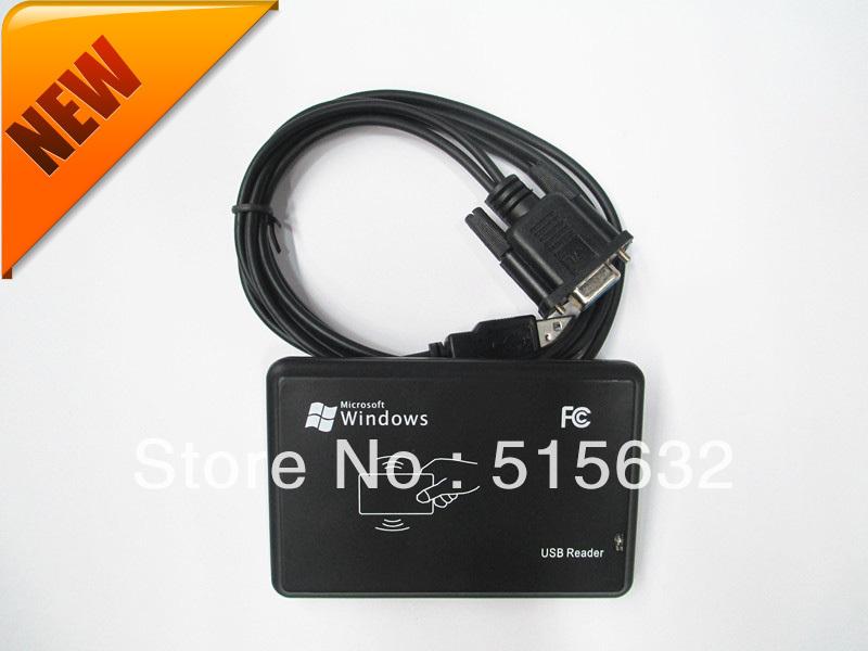New Security Black USB RS232 RFID Reader Proximity Sensor 125khz Smart ID Card(China (Mainland))