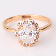 Mother Day Gift Jewelry 2015 18K Gold Filled Notable Chic Cut Crystal Smart Rings Fashion Big Wedding Rings Engagement Ring R163