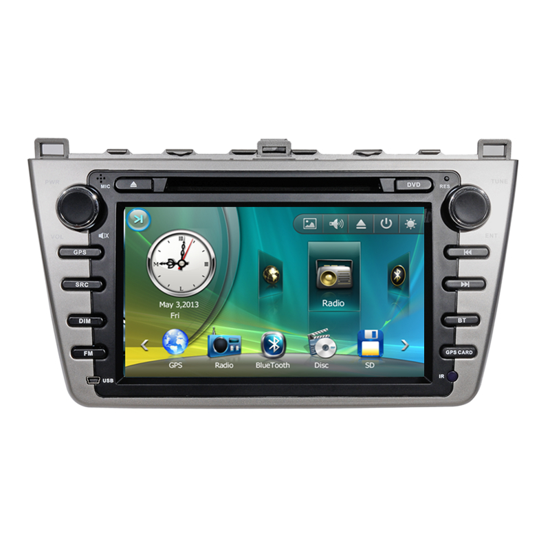 8 Car Stereo Audio Autoradio Head Unit Headunit for Mazda 6 2008 2009 2010 2011 2012 Analog TV Phonebook Bluetooth Handsfree<br><br>Aliexpress