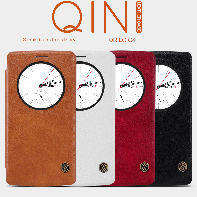 Nillkin Top grade Genuine Wallet Leather Case cover LG Optimus G4 H815 H810 H811 VS986 LS991 F500 phone cases free