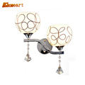 Hghomeart Fashion Frosted Glass Lampshade Wall Lamp Crystal Led Sconce Loft Home Lighting Modern Bedroom Mounted
