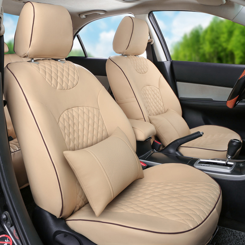 luxury leather seat covers for Subaru outback 2006/2010-2015 car seat cover Accessories cover seat cushion christmas auto chair(China (Mainland))