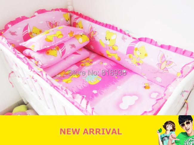 With Filler Crib bedding 100% cotton 5 piece set Crib baby bedding bumper kit bumper 100% cotton supplies bed around<br><br>Aliexpress