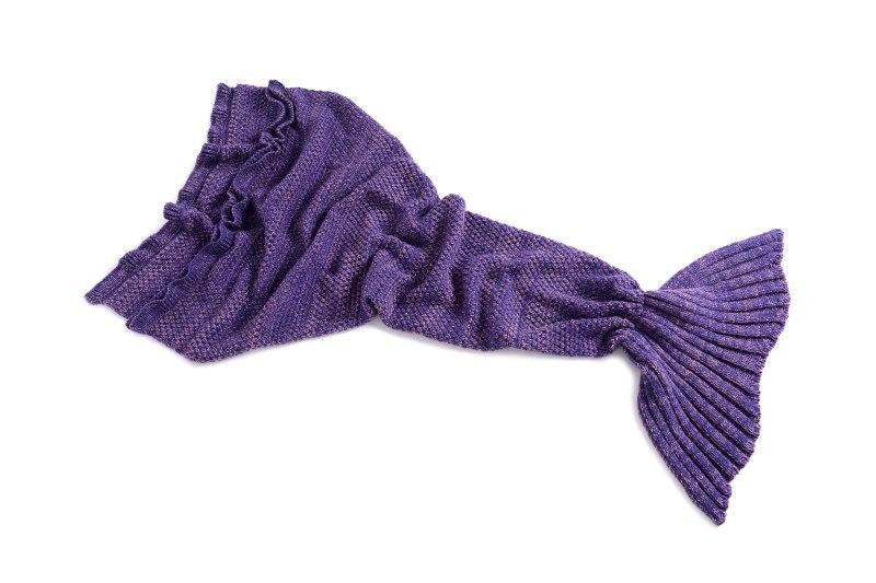 yarn knitted Mermaid Tail blanket handmade crochet mermaid blanket adult throw Wrap super soft sleeping Shark Pashmina(China (Mainland))