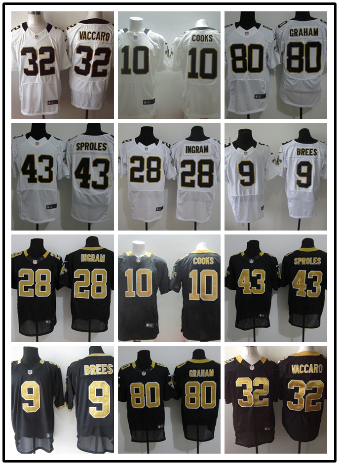 Stitiched,New Orleans Saints Brandin Cooks Darren Sproles Drew Brees Jimmy Graham Kenny Vaccaro Mark Ingram(China (Mainland))