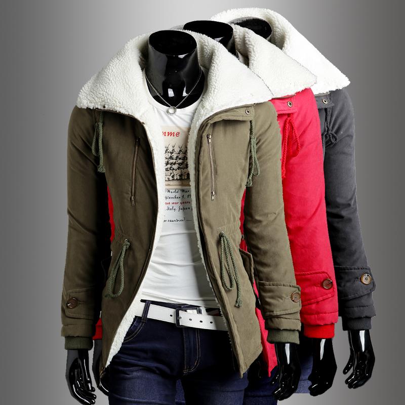 Фотография Group-buying!!!! 2014 New brand cotton 3 color mens long coat jacket men