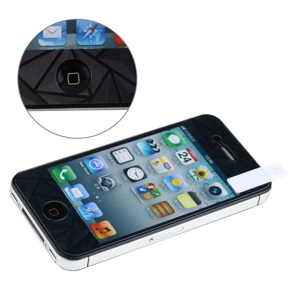3D алмазная тела передняя задняя защитная пленка защитная пленка гвардии для iPhone 4S 4 г