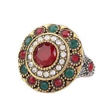 Fashion Bohemia Tibetan Silver Plated Women Rings Ruby Jewelry womens ringsneko atsume authentic retro jordans garnet ring(China (Mainland))