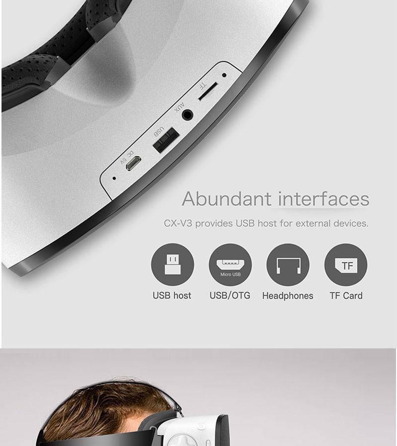 ถูก มาใหม่CX-V3ทั้งหมดในหนึ่งชุดหูฟังAllwinner H8VR Octa Core 1080จุดFHDจอแสดงผลVRที่สมจริงแว่นตา3Dเสมือนจริงชุดหูฟัง