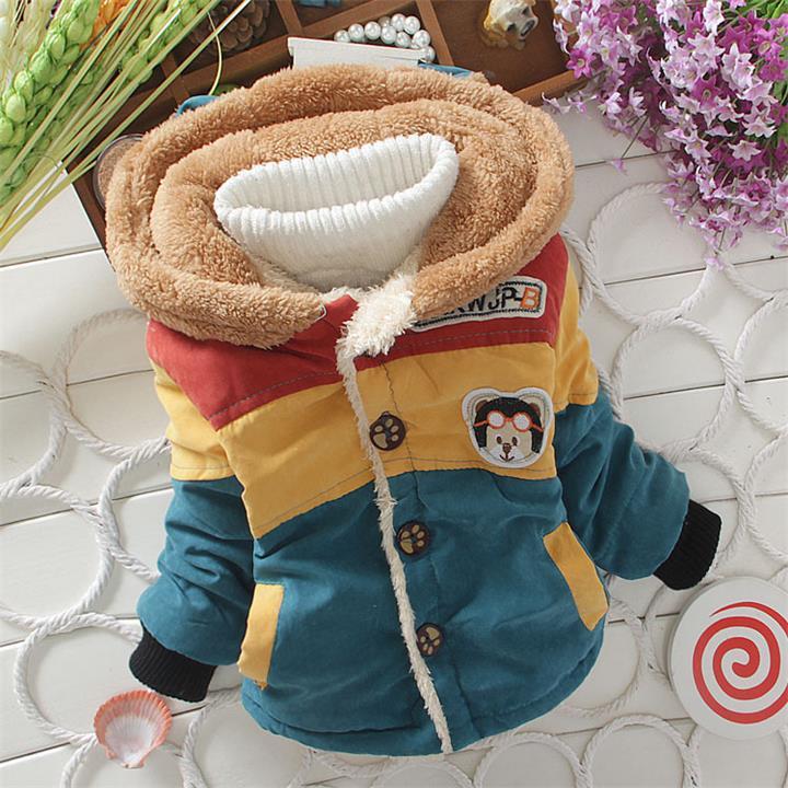 New Children Coat Cartoon Baby boys winter Coats full sleeve coat boy's warm Baby jacket Winter Outerwear Thick boys clothing.(China (Mainland))