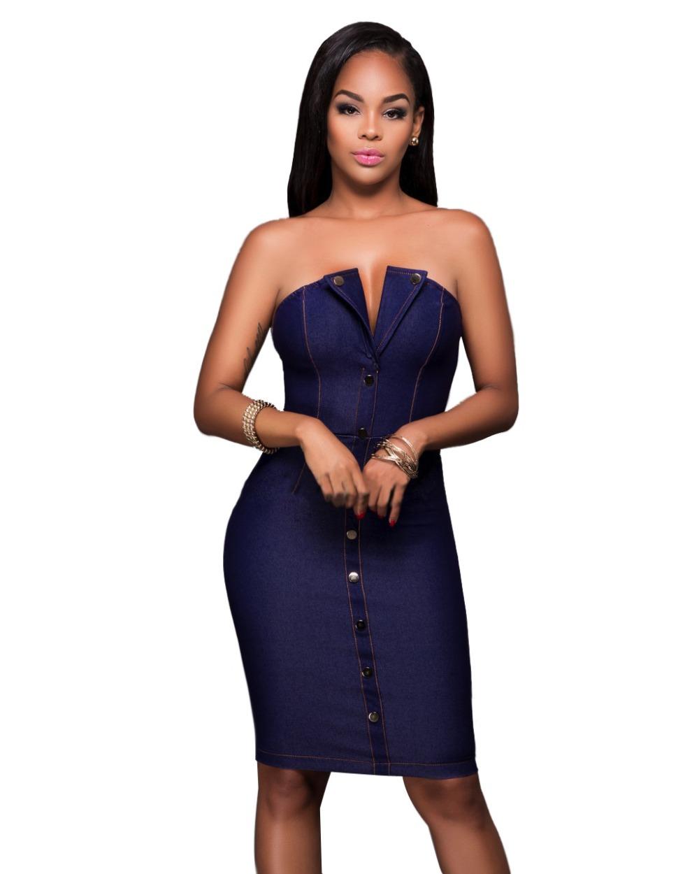 Knee Length Strapless Dresses Promotion-Shop for Promotional Knee ...