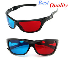 Free shipping Only $0.99 Universal 3D Plastic glasses/Oculos/Red Blue Cyan 3D glass Anaglyph NVIDIA 3D vision/cinema(China (Mainland))