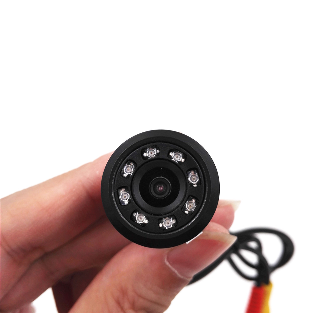 2016 New Arrival Waterproof 8 LED Night Vision Car Reversing Rearview Camera Vehicle Parking Backup Camera With Drill(China (Mainland))
