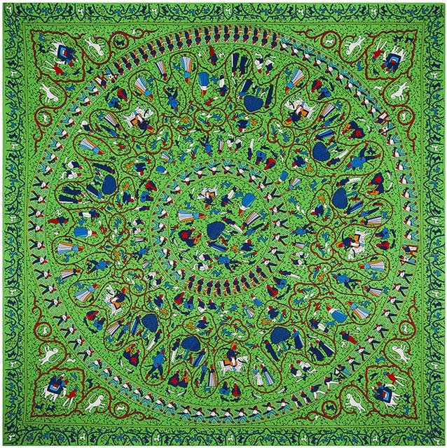 130 см * 130 см 100% шелк евро фирменный стиль женщины круг дикие дети играют шелковая косынка Femal весна новинка дизайн платки