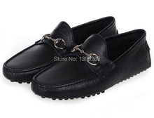 Hottest sale brand men business shoes high quality leather shoes for men fashion flats size39-45(China (Mainland))
