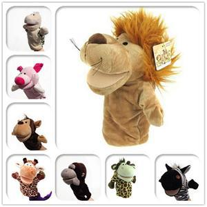 New Arrival Kid Child Cute Plush Velour Animals Hand Puppets Chic Designs Learning Aid Toy DropShipping Toys(China (Mainland))