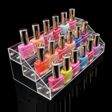 Hot Sale Makeup Cosmetic 3 Tier Clear Acrylic Organizer Mac Lipstick Jewelry Display Stand Holder Nail Polish Rack Free Shipping