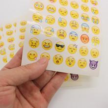 5 sheets cut sticker 48  Emoji Smile face stickers   for notebook, laptop message Twitter Large Viny Instagram